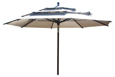 11 Feet Round Market Umbrella (Aluminium Pole) With Sunbrella Fabric