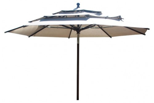 11 Feet Round Market Umbrella (Aluminium Pole) With Sunbrella Fabric