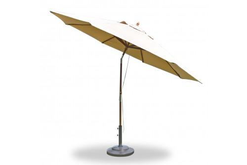 11 Feet Round Market Umbrella Wooden Pole Tilt With Sunbrella Fabric