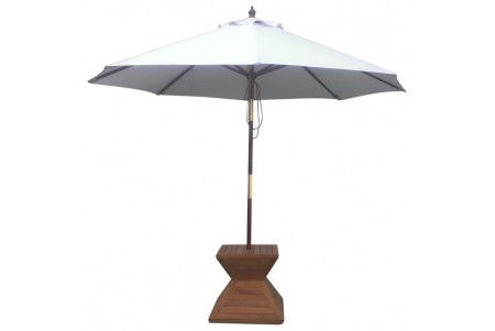 9 Feet Round Umbrella (Wooden Pole)