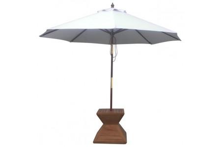 9 Feet Round Umbrella (Wooden Pole)