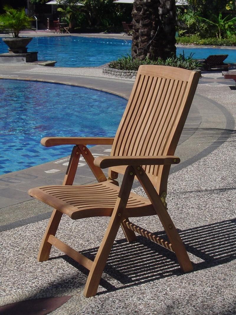 9 Pc Teak Reclining Chairs Garden Outdoor Patio Furniture D9 Marley Folding Ebay